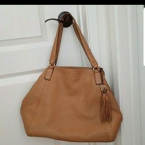 Vince Camuto camel leather handbag